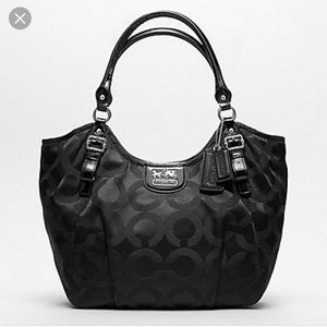 Coach Madison Op Art Sateen Abigail Shoulder Bag
